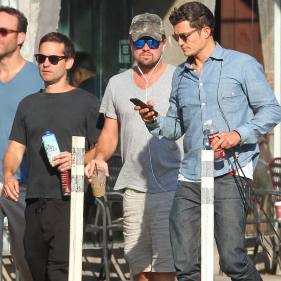 Leonardo DiCaprio With Tobey Maguire and Orlando Bloom 2017