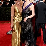 Lea Michele and Dianna Agron at the 2014 Met Gala