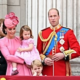 Prince George Princess Charlotte Trooping the Colour 2017