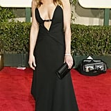 For the 2004 Golden Globe Awards, Aniston stunned in a fluttering cutout Valentino creation and luscious waves.