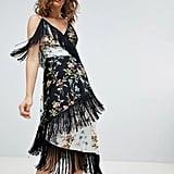 ASOS Design Fringe Cami Midi Dress