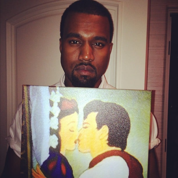 Kanye West is a Snow White fan. Source: Instagram user krisjenner