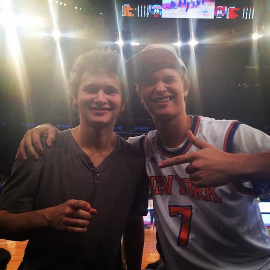 "If you follow Ansel Elgort on Instagram, chances are you've noticed that he has a handsome older brother who looks an awful lot like him. Warren is a 25-year-old filmmaker, and on social media, he's shared more than a few cute pictures of himself and his famous family. Meanwhile, Ansel regularly posts fun photos of his big brother, most recently snapping a selfie on Mother's Day, writing, ""Chef Elgorts making soft shell crabs on Mother's Day weekend."" Last year, Warren and their sister, Sophie, talked about Ansel in an interview with Town and Country, saying their little brother would sit down at the piano and sing show tunes when they had friends over to their family's Upper West Side apartment. ""My friends couldn't believe that I'd be okay with my brother blasting show tunes,"" Warren said. ""But Ansel never cared about playing it cool."" While Ansel likes to be in front of the camera, Warren works behind it as a director and producer, and like their famous father, Arthur, Sophie is also a photographer. Get your daily dose of eye candy with some studly pictures of Warren, then check out Ansel photos that will make your heart throb plus Ansel's cute Seventeen spread."