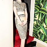 Karen Elson stepped out in a wild print that fit the scene at Proenza Schouler's New York dinner.