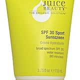 Juice Beauty SPF 30 Sport Sunscreen ($16) ranks well on EWG's 2017 sunscreen guide. Zinc oxide is the active ingredient.