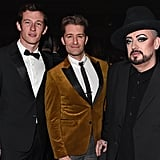 Callum Turner, Matthew Morrison, and Boy George at the British Fashion Awards 2019 in London