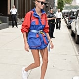 Belt a Colorful, Oversize Parka and Let That Be Your One-and-Done Outfit