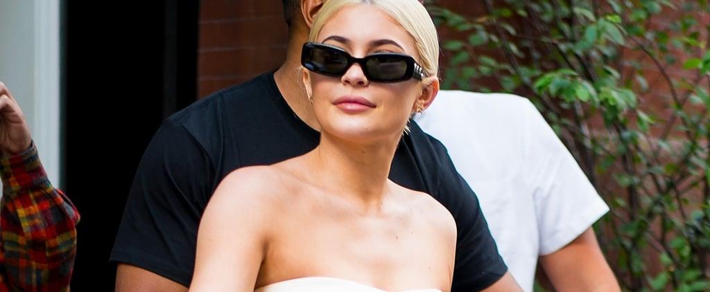 Kylie Jenner White Dress August 2018