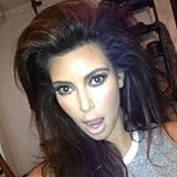 Kim Kardashian went wild with a new hairstyle. Source: Instagram user kimkardashian