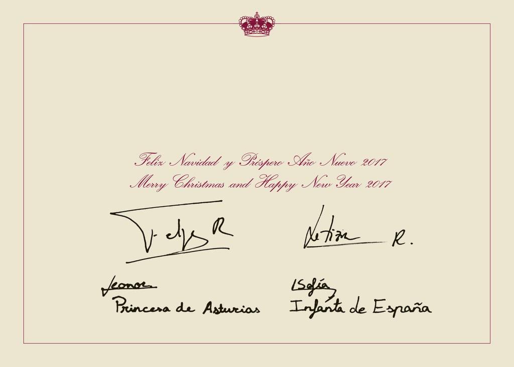 The Spanish Royal Family\'s Christmas Card 2016 | POPSUGAR Latina Photo 2