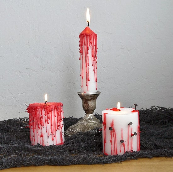 Bloody Halloween Candles