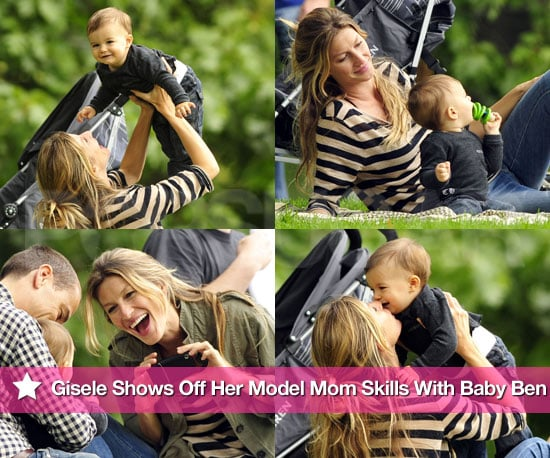 Pictures of Gisele Bundchen in Central Park With Benjamin Brady