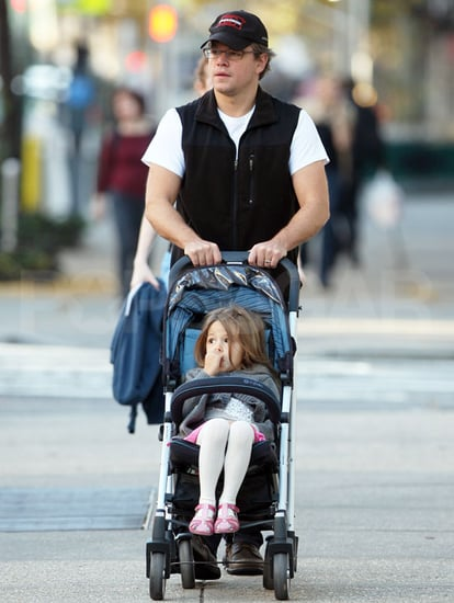 Pictures of Matt Damon Out Walking With Daughter Isabella in Manhattan