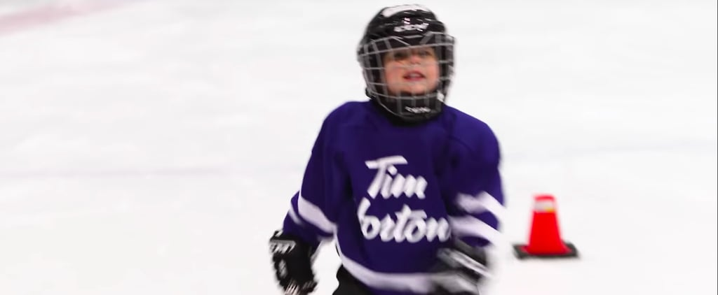 Dad Puts GoPro on Son at Hockey Practice Video