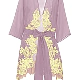This is the ultimate in lingerie indulgence, but if you're one for lacy perfection, then this Rosamosario Sei La Mia Fragola lace-appliqué robe ($680) is it. The soft lilac and lemon hues juxtaposed against delicate appliqué embroidery show off the robe's romance.