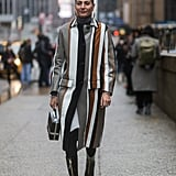 Opt For a Striped Coat That Will Elongate Your Silhouette