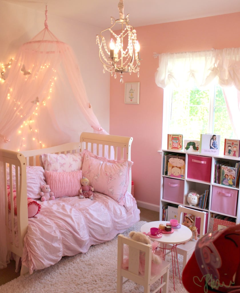 Pink princess butterfly room for girls popsugar moms for Room design ideas pink