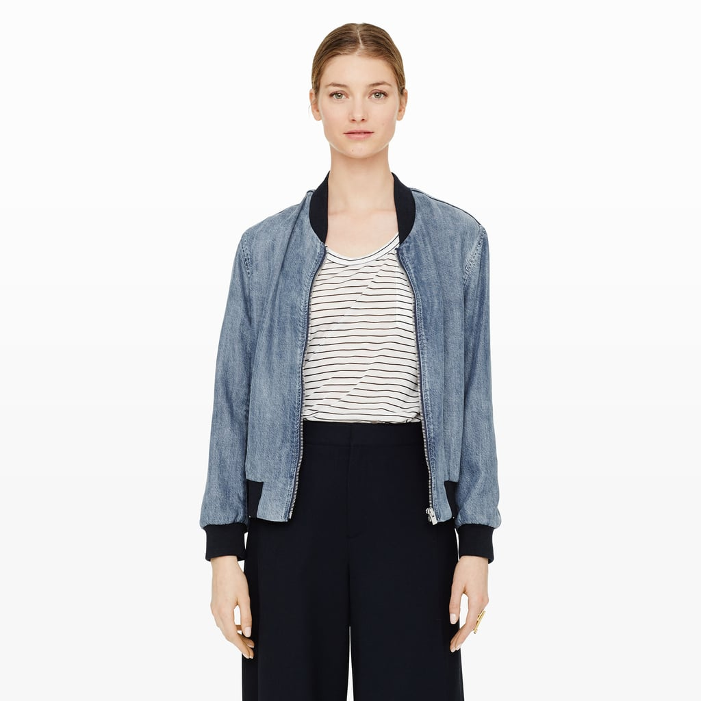 Club Monaco Vilma Denim Bomber ($259)