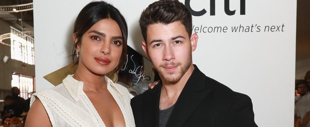 Priyanka Chopra's White Dress With Nick Jonas Feb. 2019