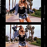 Shea Marie Styling a Fausto Puglisi Top With Grlfnd Denim