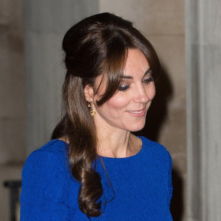 Kate Middleton Half Up Hair Idea Popsugar Beauty