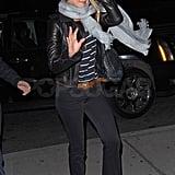 Jennifer Aniston Smiles as She Whips Her Hair