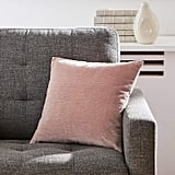 Rivet Velvet Texture Striated Decorative Throw Pillow