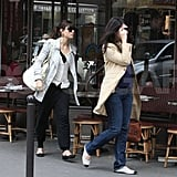 Jessica Biel stopped for lunch at a café in Paris, where her engagement ring was on display.