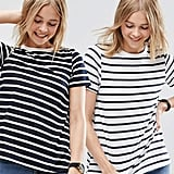 Asos Swing T-Shirt In Stripe 2 Pack ($30)