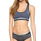 Right now it feels like everyone's trying to get their hands on a Calvin Klein bra and panties set — but not this version! While lots of ladies have their eyes on the gray sports bra and boy shorts, I much prefer the Magnetic Force Bralette ($28) and contrast Hipster Panties ($28).  — SW