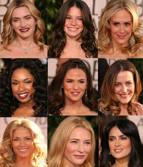 The Golden Globes Red Carpet: Loose Waves & Center Parts
