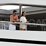Simon Cowell had a new year's getaway with a friend.