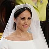 Photos of Meghan's Gorgeous Tiara at Her Wedding