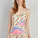 On a Tide Note One-Piece Swimsuit in Dino Tracks ($66, originally $95)