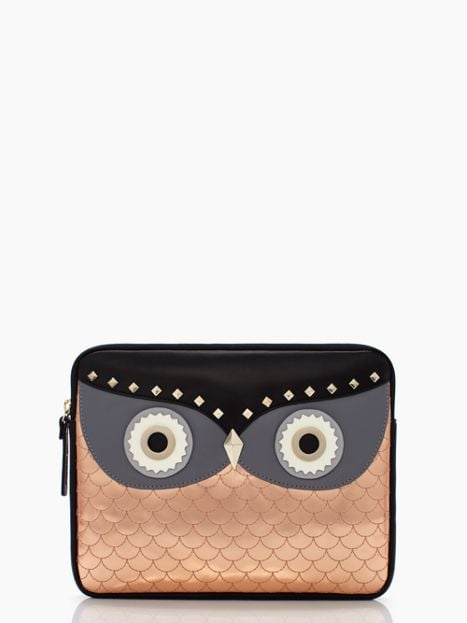 Whooo wouldn't want this outstanding owl iPad sleeve ($125) that's made from soft natural cowhide?