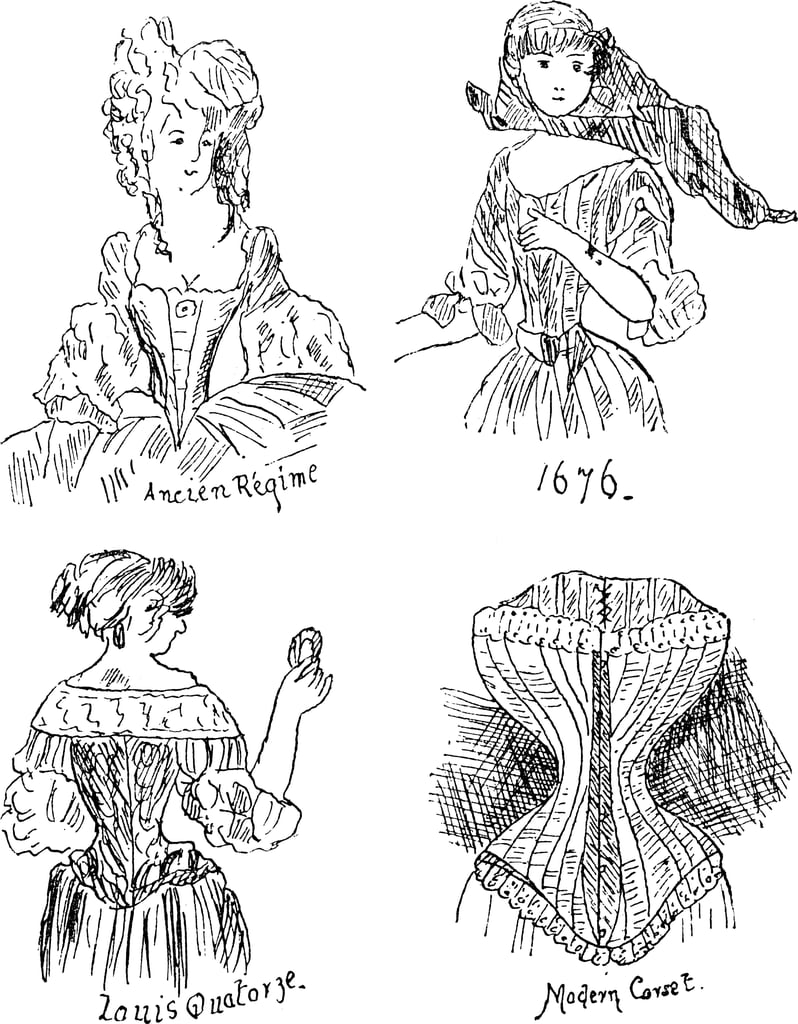 """Corsets were called """"stays"""" until 1829, when French designer Jean-Julien Josselin patented the word for his new undergarment: a one-piece that could be fastened and unfastened without assistance."""