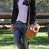 Gwen Stefani went to a park.