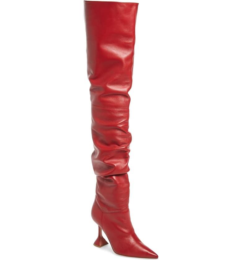 Amina Muaddi Olivia Over the Knee Boot
