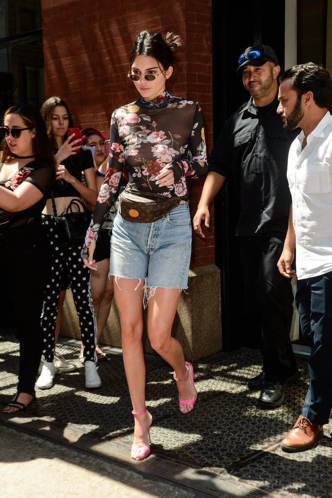Kendall Jenner Sheer Floral Bodysuit