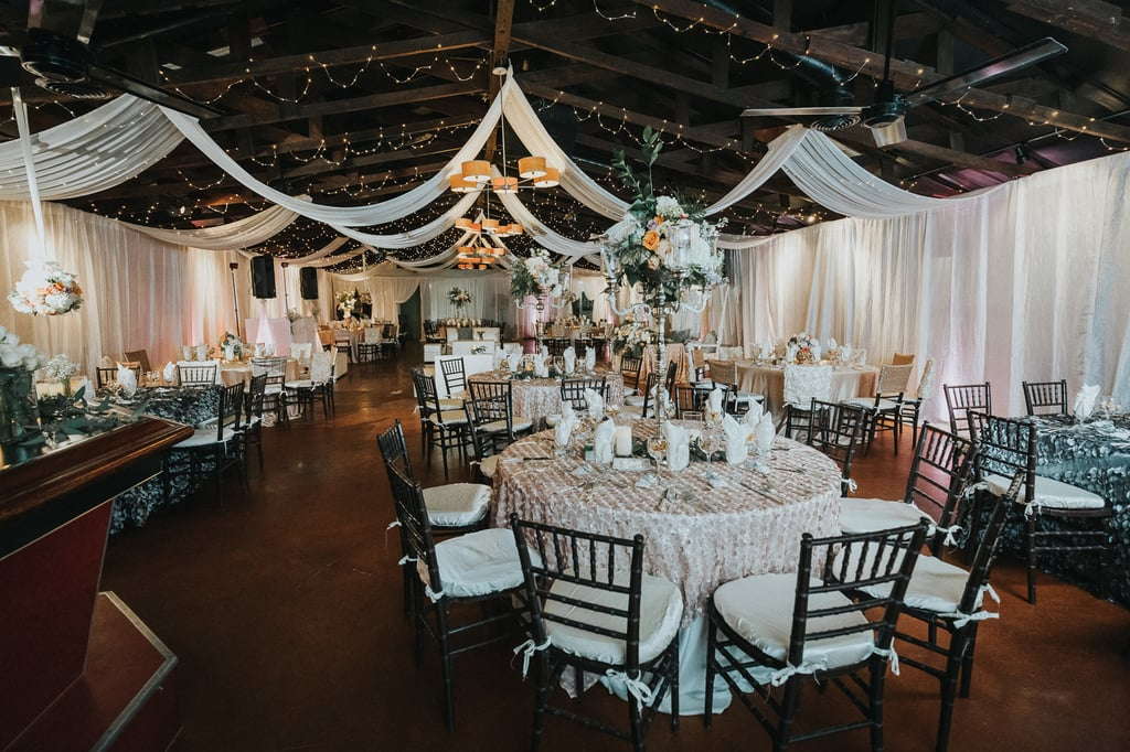 Elegant Wedding Reception With Blush And Gray Colors Popsugar Love