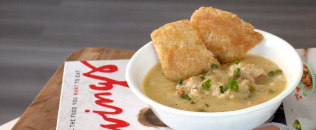 Chrissy Teigen's Chicken Pot Pie Soup Recipe