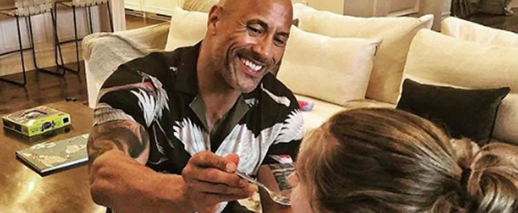 The Rock Feeding His Girlfriend While She Breastfeeds