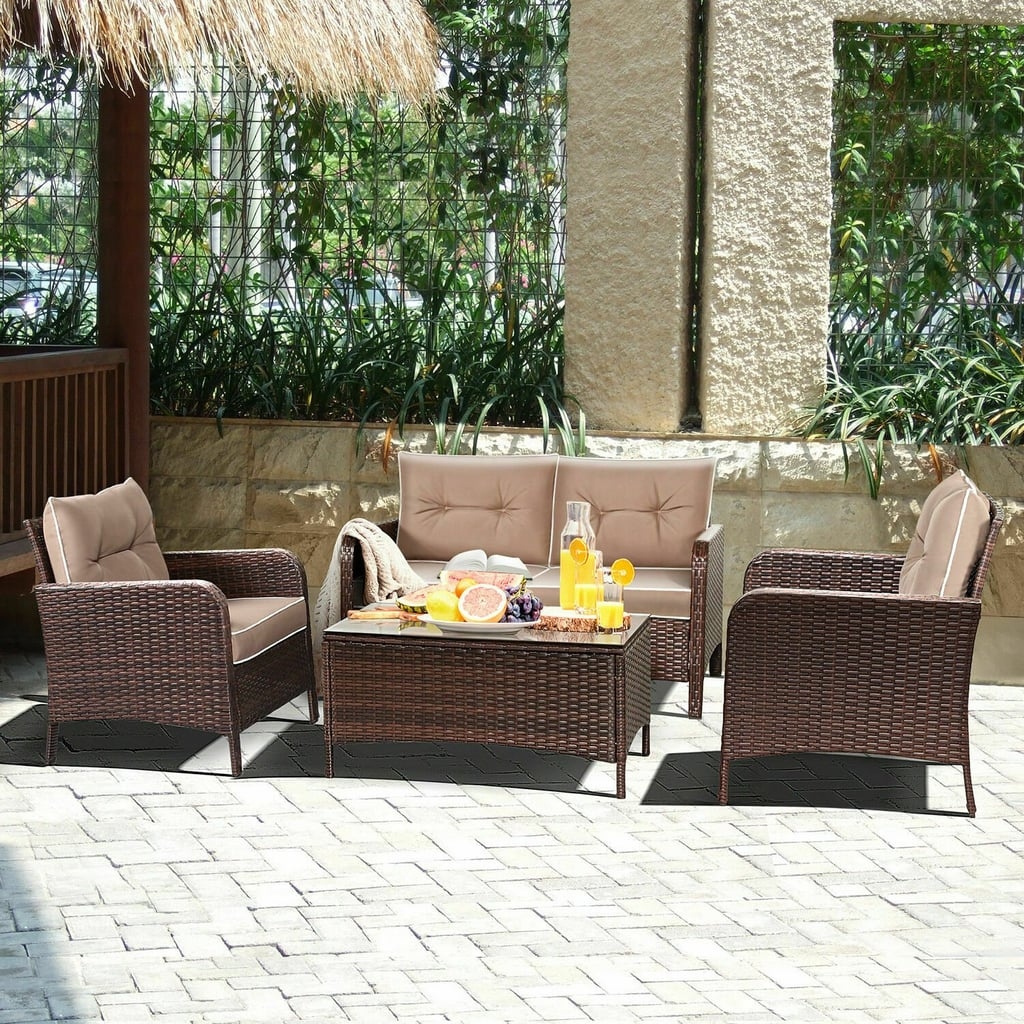 Costway Outdoor Patio Rattan Wicker Furniture Set