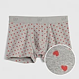 Heart Print Boxer Brief Trunks