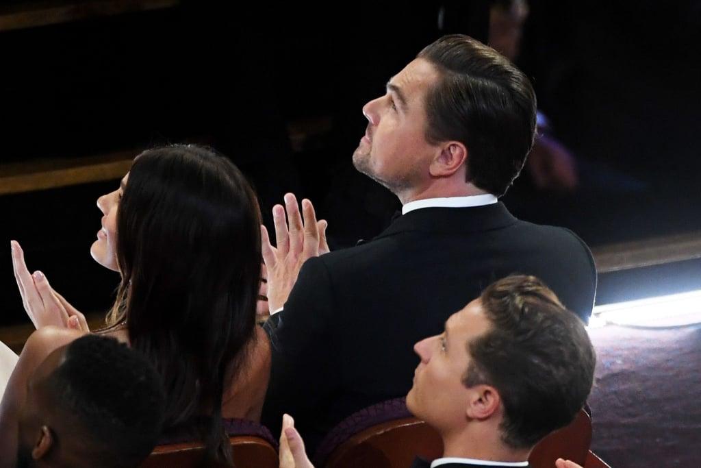 Leonardo DiCaprio and Camila Morrone at the 2020 Oscars