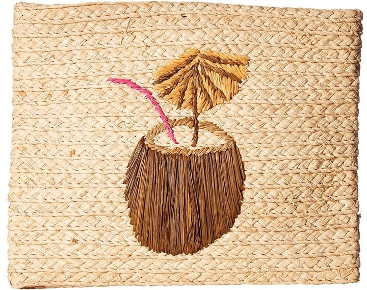 We all know that straw bags are the talk of the town. This clutch is great to take on your next vacation or just wear this entire Summer.  Buji Baja Whimsical Clutch ($78)