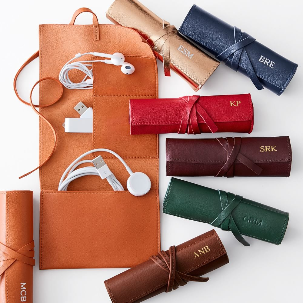 Mark and Graham Leather Charger Roll Up ($49)