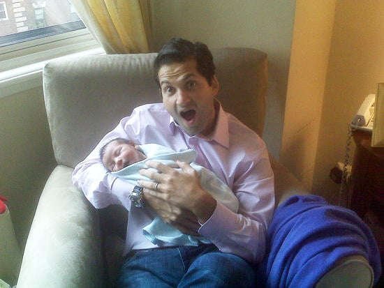 Sugarbabies: Sleepy One-Week-Old Snuggles With Uncle