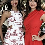 Zoe Saldana wore a red-and-white printed dress to the 25 Most Powerful Stylists Luncheon, while Nina Dobrev rocked a bright red jumpsuit.