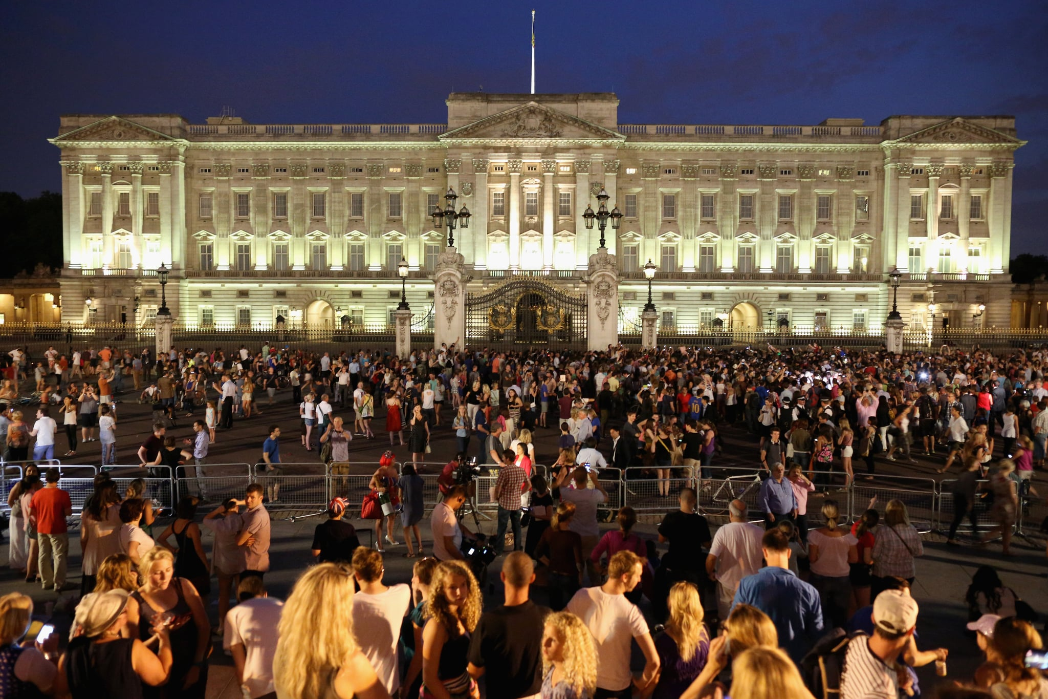 People flocked to Buckingham Palace following the birth of the Prince of Cambridge.
